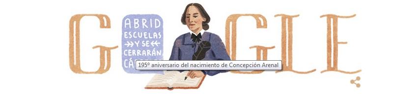 Консепсьон Ареналь: испанская феминистка и писательница в заставке Google