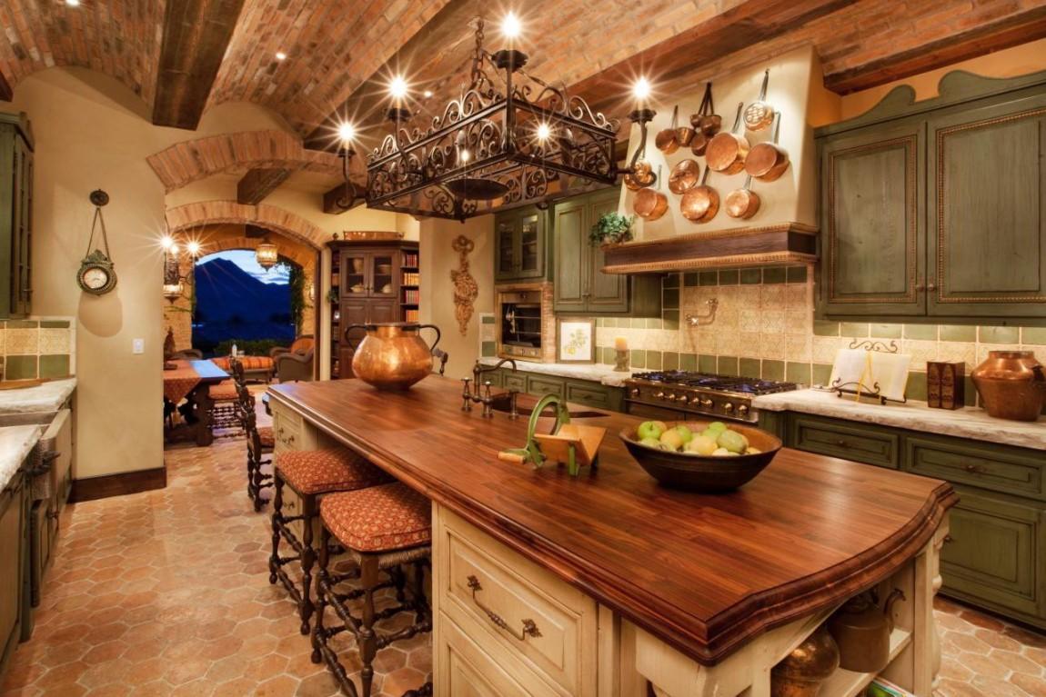 Основной акцент дизайнерской кухни – это стол