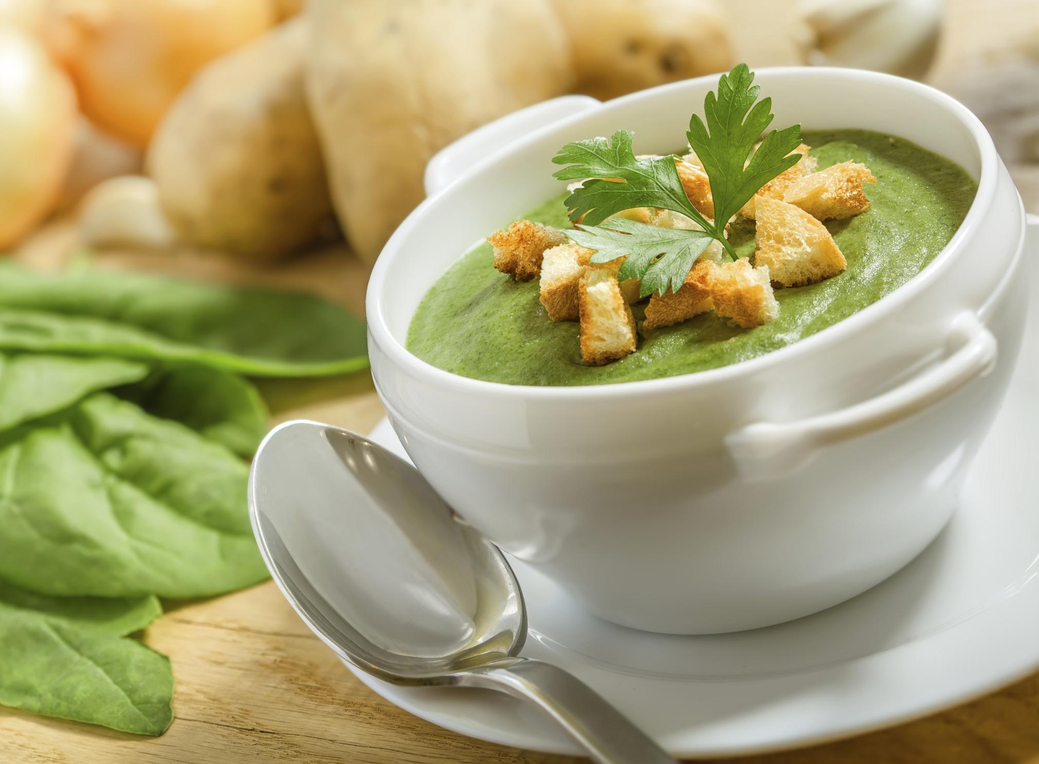 Крем суп со шпинатом