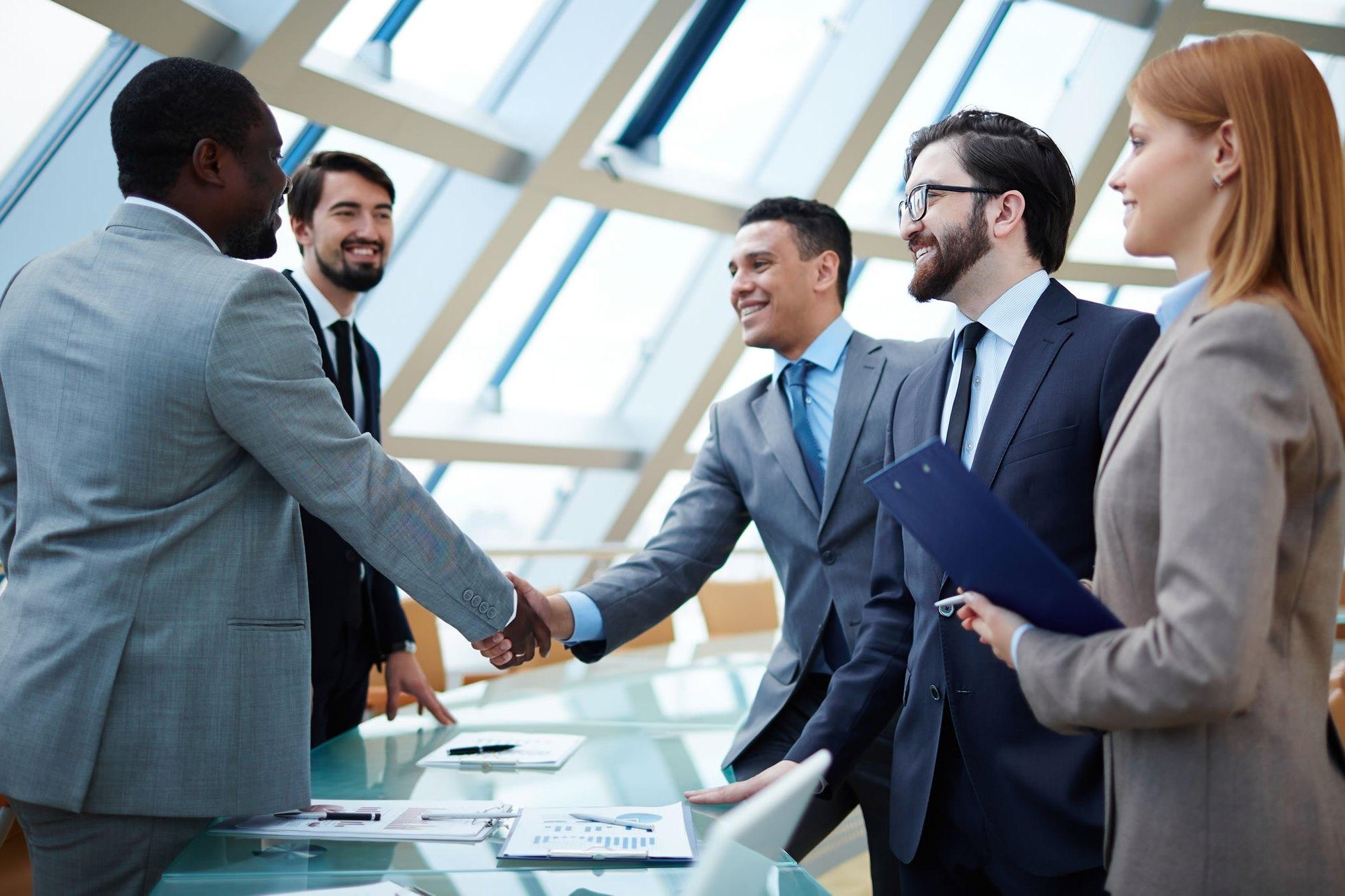 знакомство в деловой сфере