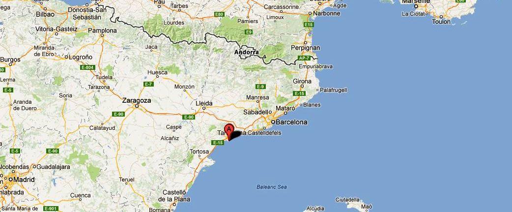 Где находится салоу в испании