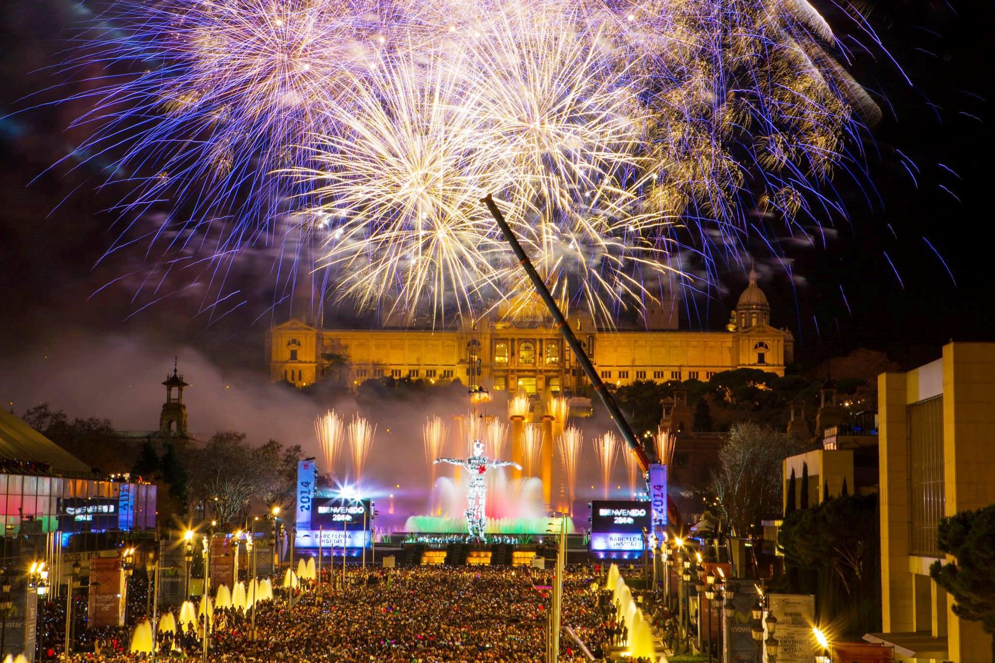 Новый год в Барселоне!