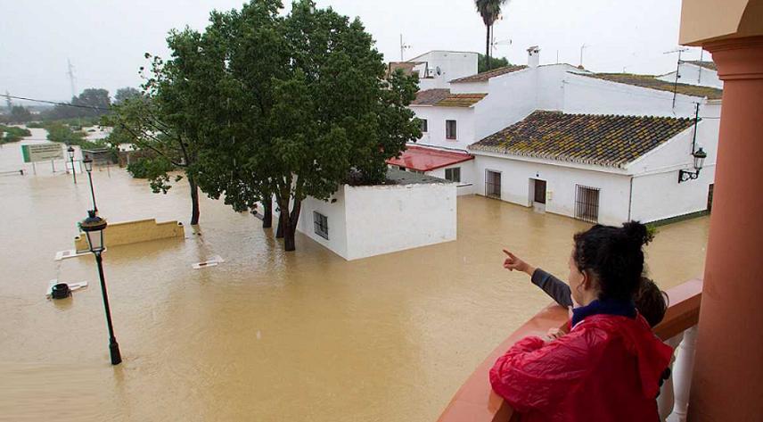 Виспанской провинции Малага случилось сильное наводнение