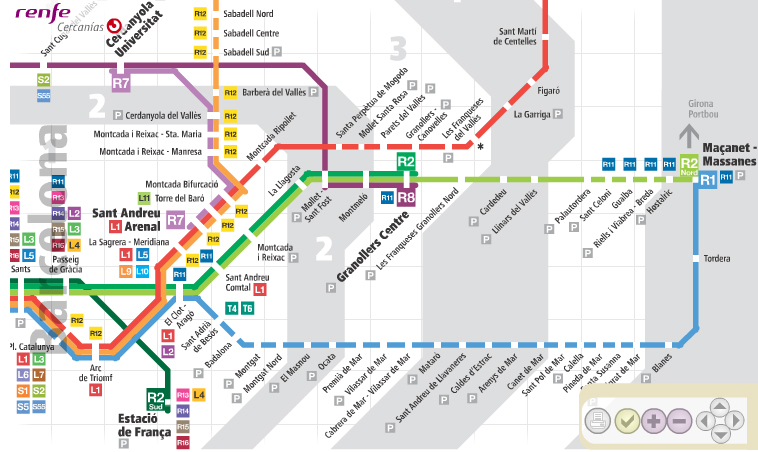 На пригородных поездах RENFE