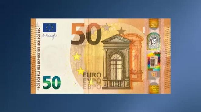 Так выглядит новая купюра 50 евро
