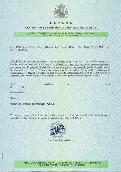 Идентификационный номер иностранца nie в Испании Испания по  Идентификационный номер иностранца Идентификационный номер иностранца