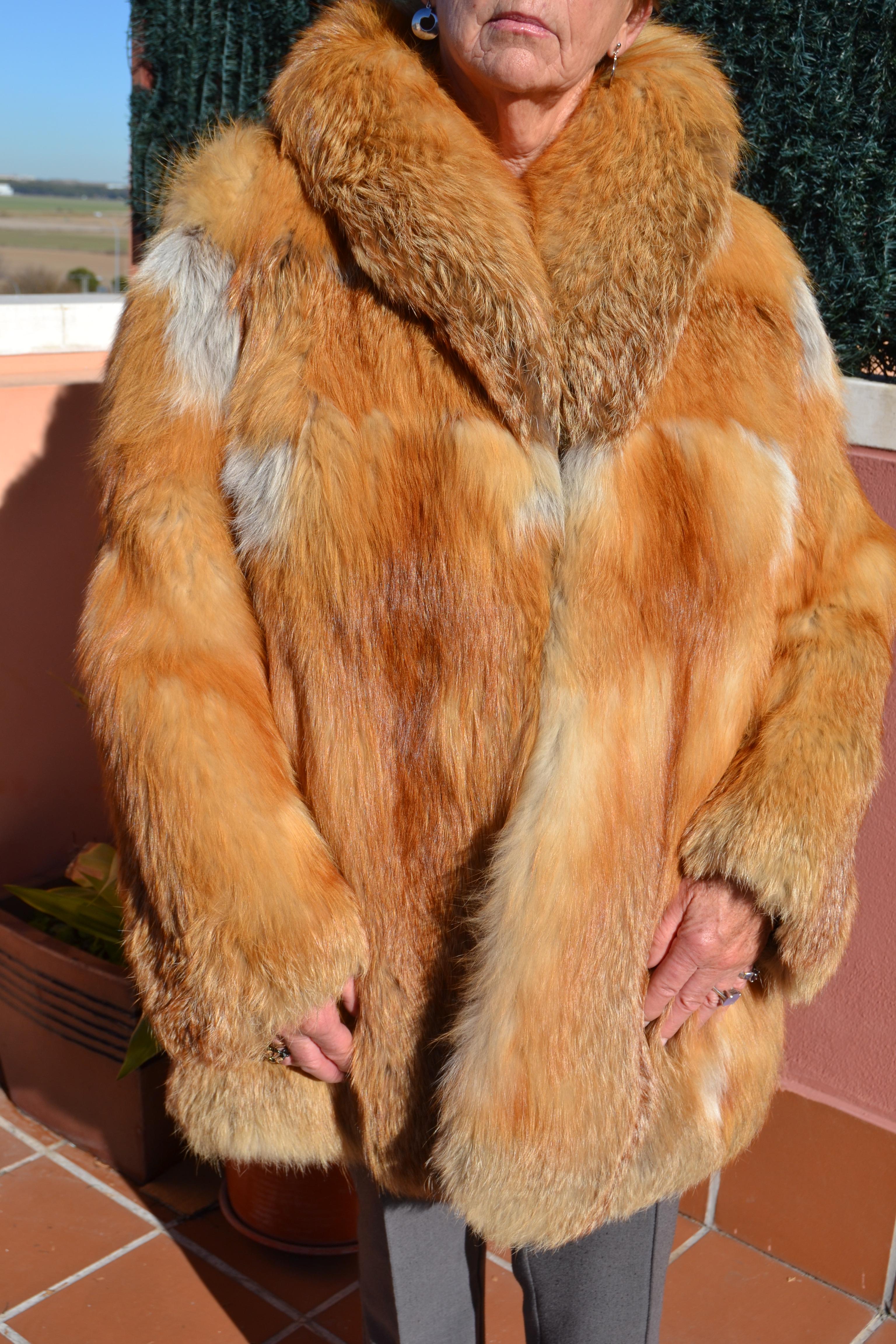 Abrigo zorro del canada