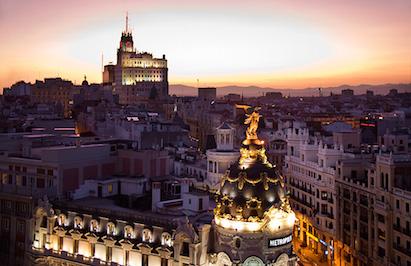Закатное небо Мадрида