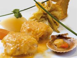 Испания Морской черт с соусом из морского ежа